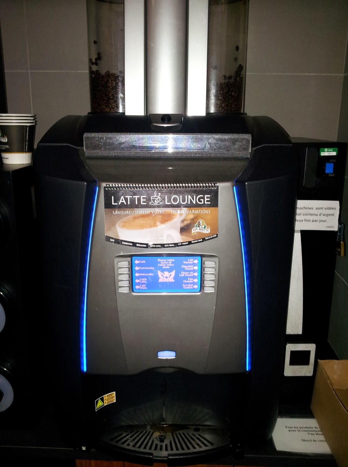 coffee, espresso, latte, vending machine, coffee beans, grinder, paper cup