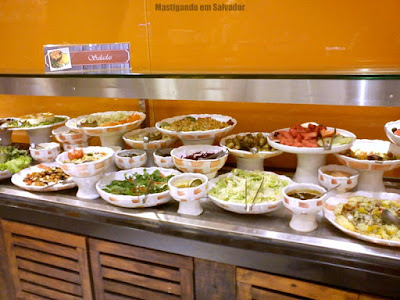 Jerimum Buffet e Forneria: Buffet de Saladas da loja do Salvador Shopping
