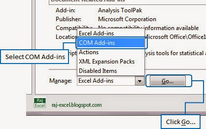 manage version in excel 2013