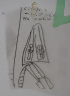 photo of: Reggio Emilia Child's Drawing for Enlargement by professional artist