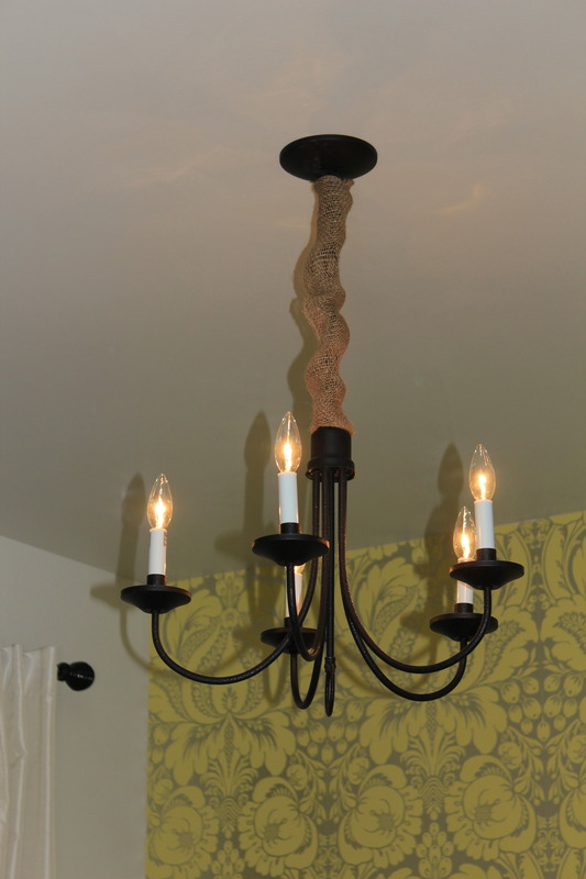 Old house new house cord cover its called i knew it would look perfect my primitive chandelier but with shipping it was almost 4000 so i decided to make one myself aloadofball Gallery
