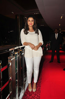 Parineeti Chopra in Full White Top Trousers with Lovely Pink Lipstick cuteness redefined