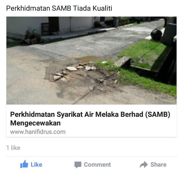 Syarikat Air Melaka Berhad (SAMB)