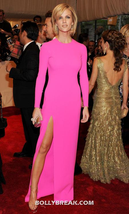 Brooklyn Decker Hot Pink Dress - (6) - Celebrity Pictures in Neon Dresses - Bollywood, Hollywood