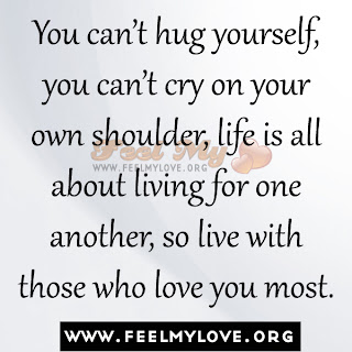 You can't hug yourself