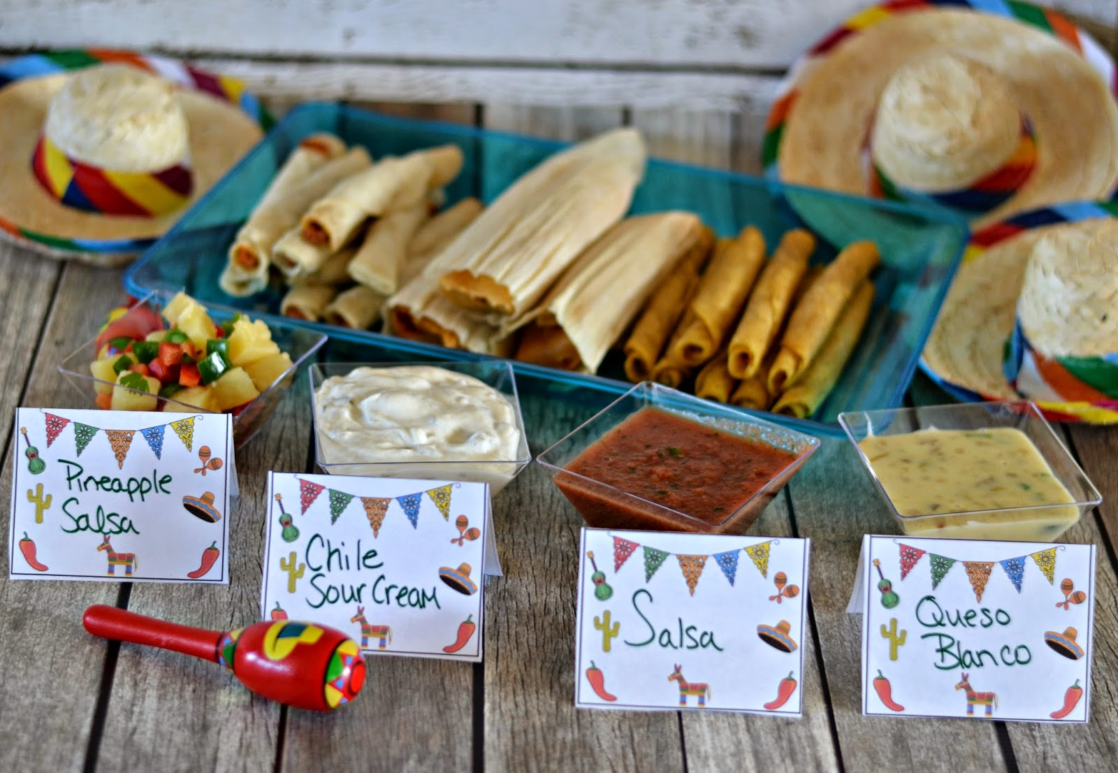 taco bar, Taquitos, Tamale, salsa recipe, queso blanco recipe, fun Mexican Fiesta bar