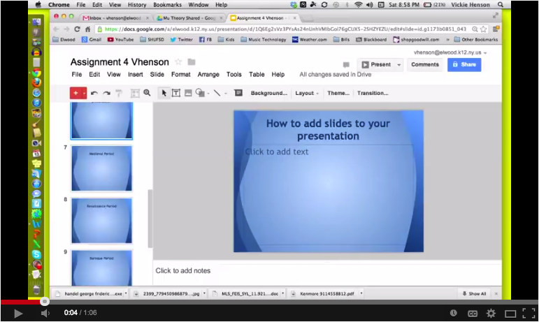 excellent tutorials to help you create presentations on google drive