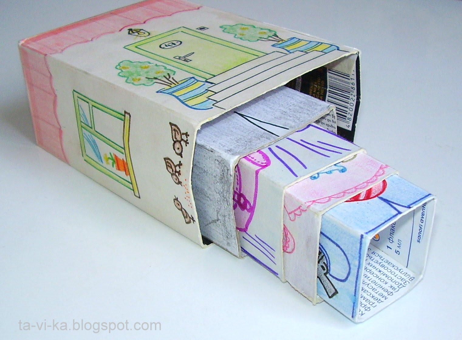 Как сделать коробку из картона для игрушек своими руками фото