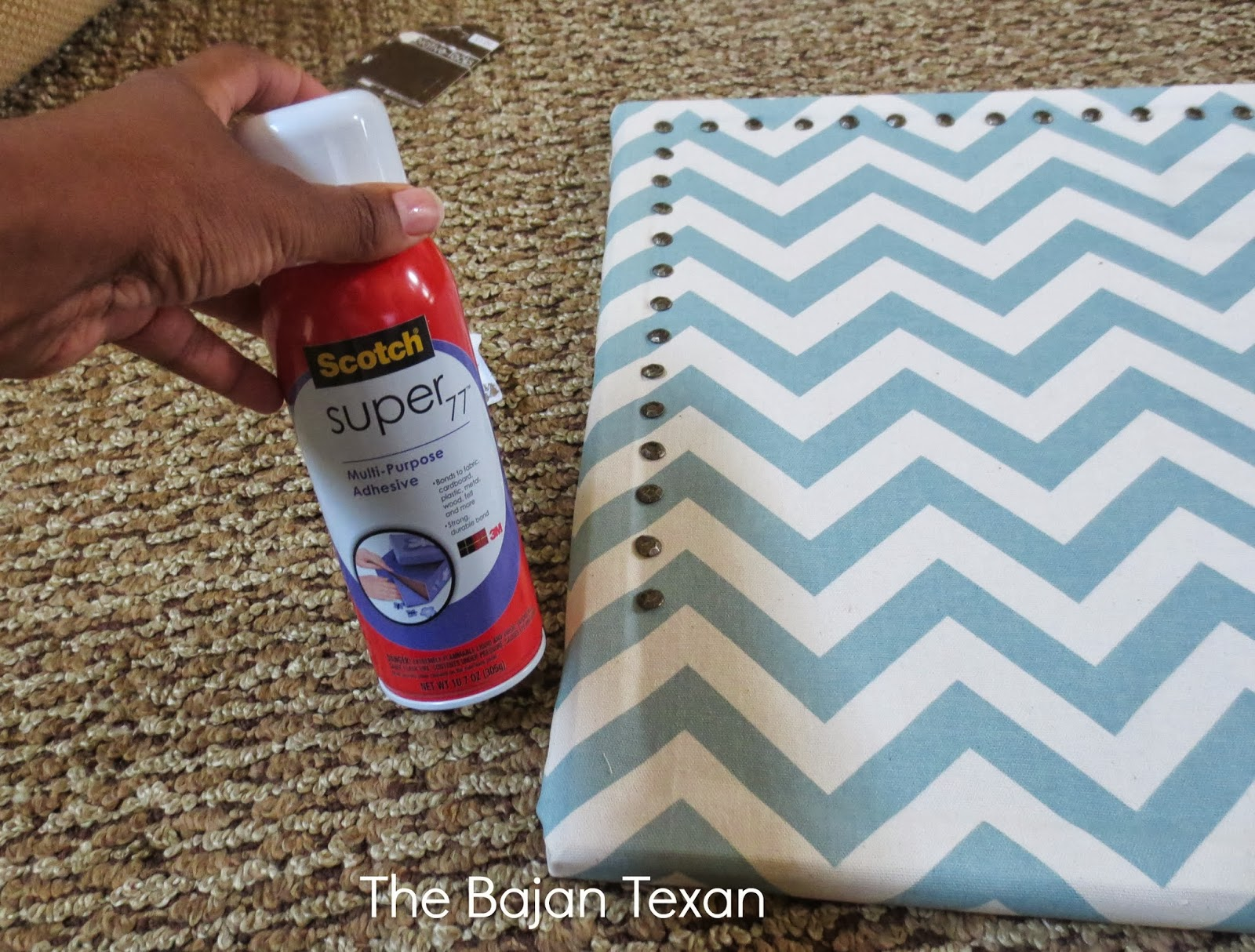 Nail Head Trim Diy Bulletin Board The Bajan Texan