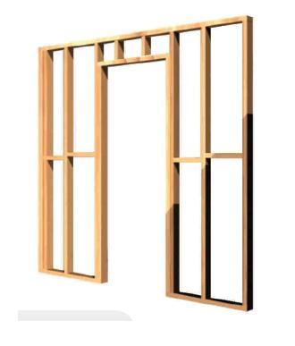 Tabiques de madera la madera en la obra de construccion - Revestir pared con madera ...