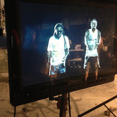 fotos de lil wayne ace hood y birdman grabando el video de we outchea