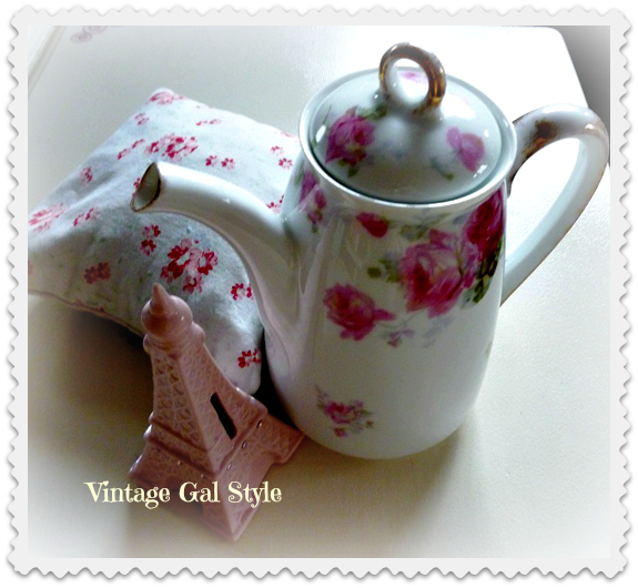 Shabby Chic Vintage Rose Pitcher