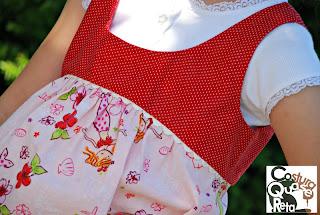 costura top infantil