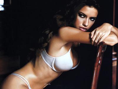 Adriana Lima in White Bikini
