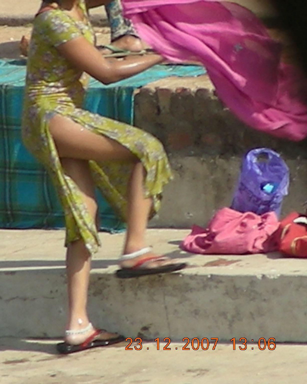 Nude Desi Girl Bathing River