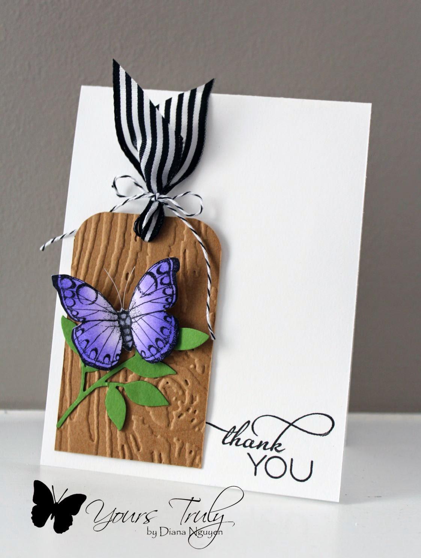 Diana Nguyen, butterfly, tag, card, HeroArts, Verve
