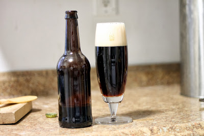 Sour brown, aged in bourbon barrels, then aged on sour cherries.