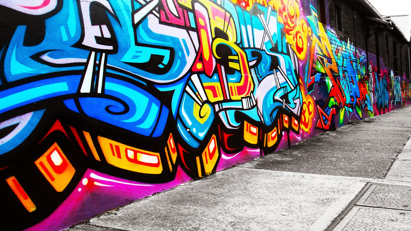 Graffiti Wall: ... Graffiti Wallpaper Love Rainbow