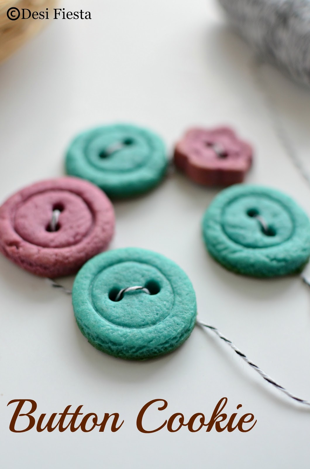 Button Shaped Cookies