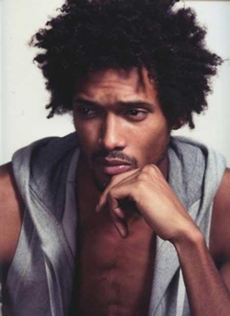 coiffure homme noir