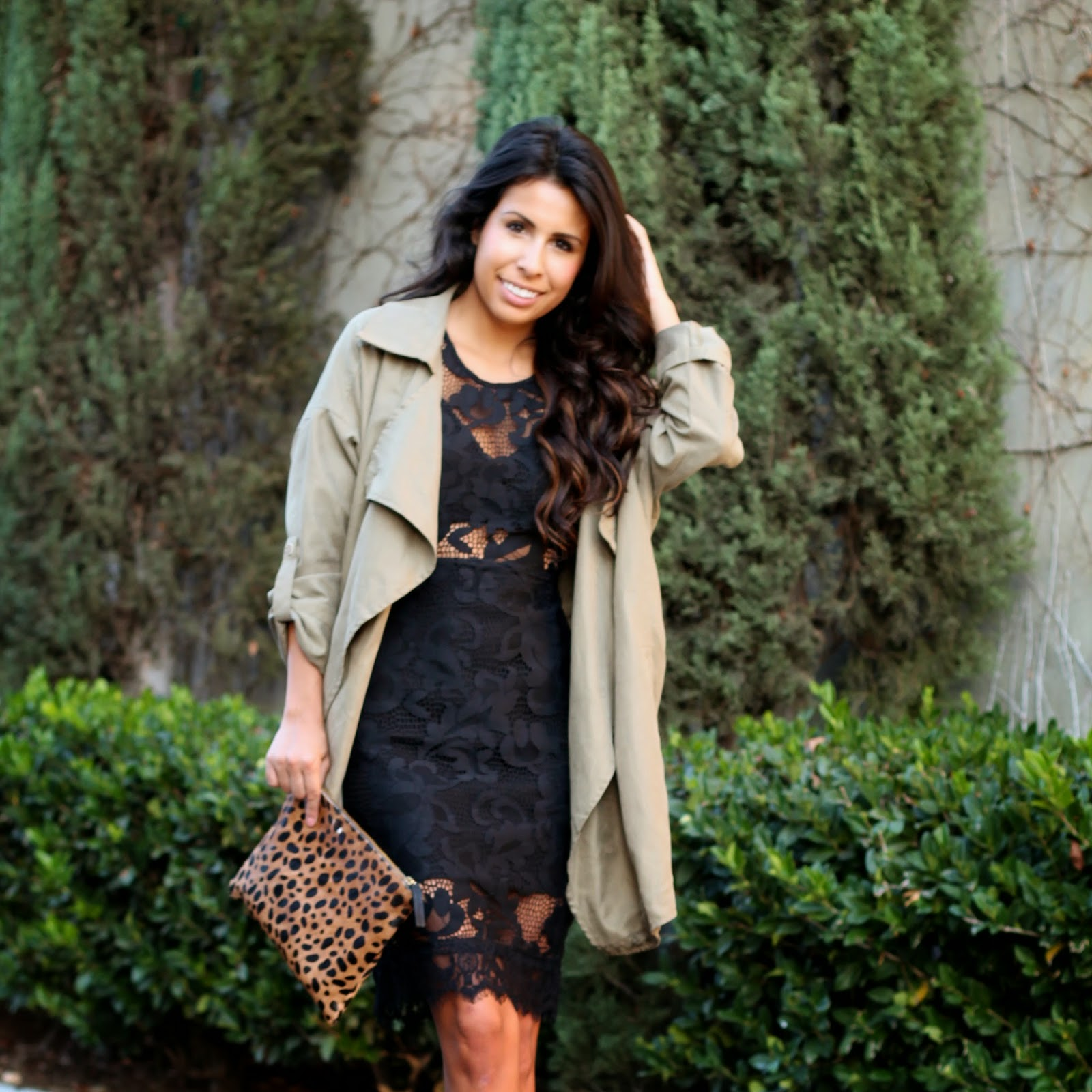 lace black dress, azaleasf jacket, holiday style, NBD on REVOLVE, What to wear holiday party