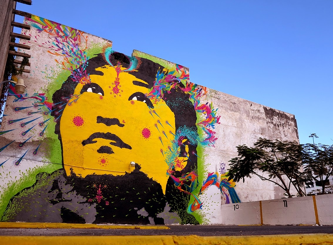 Our friend Stinkfish is also in Cancun, Mexico where he was invited to paint for the FIAP 2015 Street Art Festival.