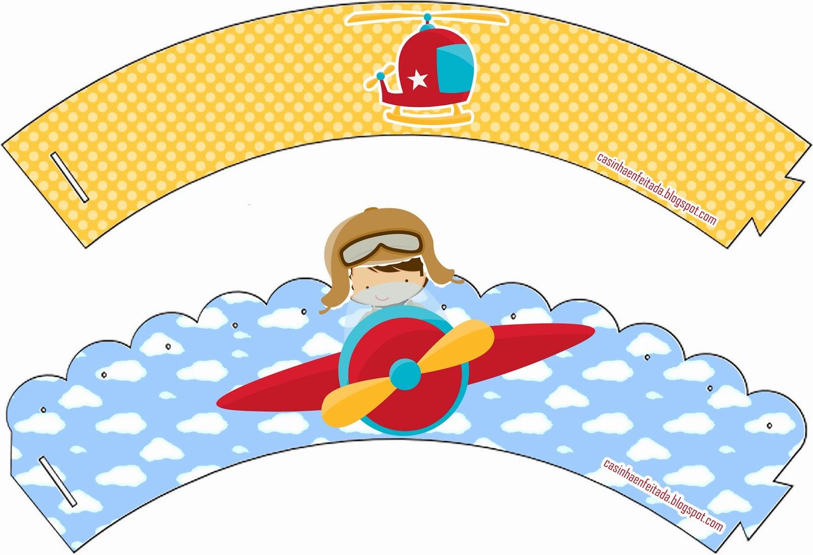 Casinha de Criança Kit Festa Aviador Para Imprimir Grátis