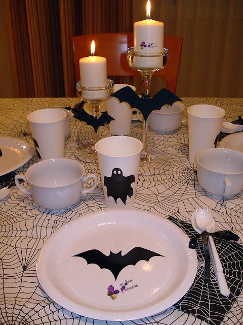 cena, cena de halloween, fiesta, halloween,