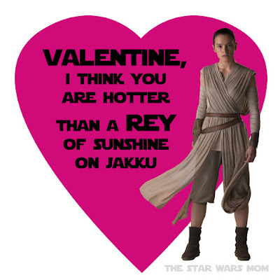 Rey Valentine by the Star Wars Mom