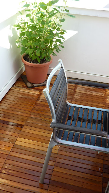 Disabella design new improved roof deck teak tiles