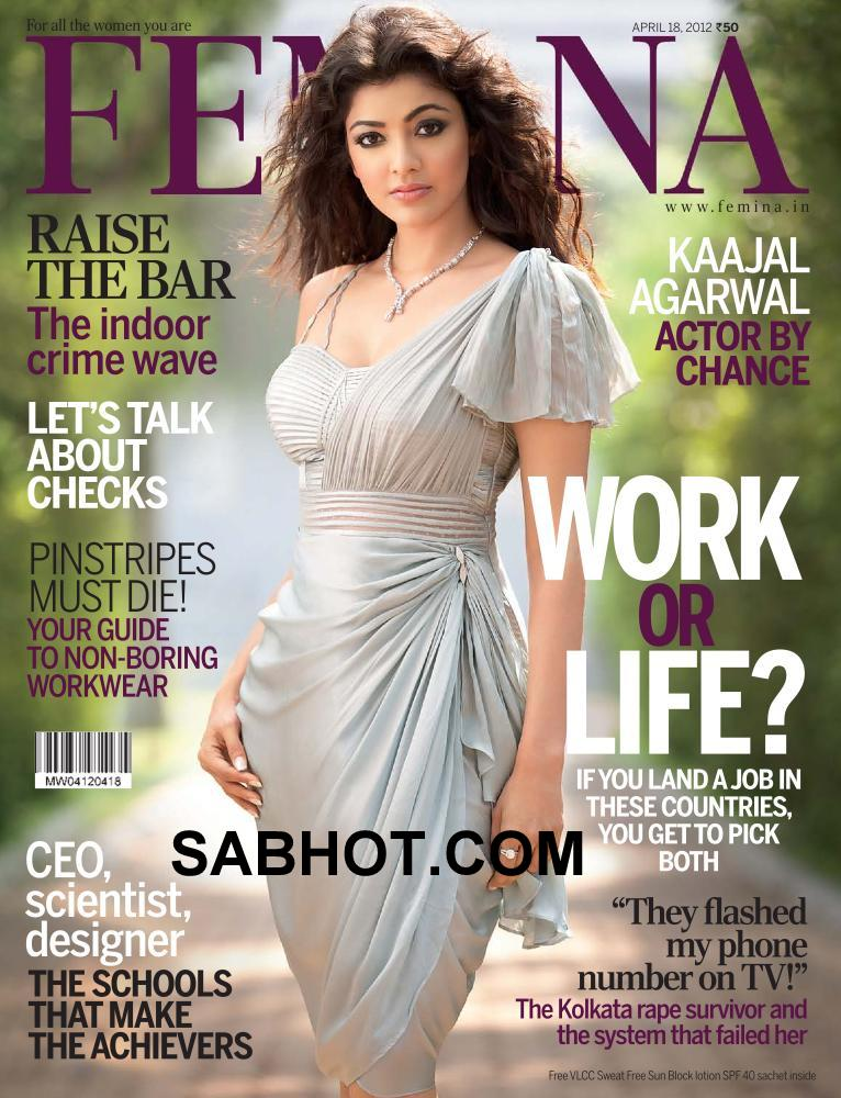 Kajal Agarwal Femina Cover - Kajal Agarwal femina april 2012 Cover