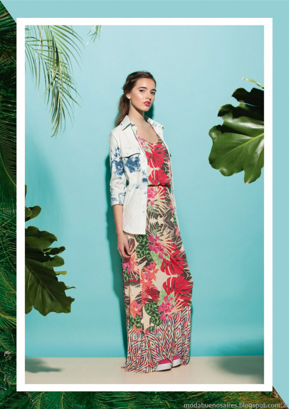 Moda verano 2015 vestidos. Felicity Urban verano 2015. Moda 2015.