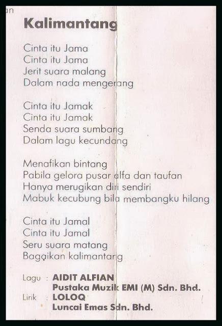 Lirik Strangers Kalimantang