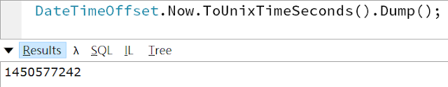 linqpad - ToUnixTimeSeconds