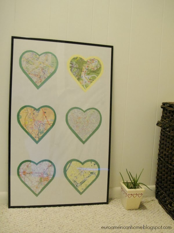 Heart map wall art - EuroAmericanHome Blog