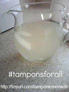 tampon lemonade