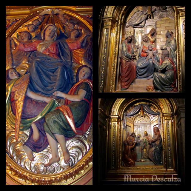 Relieves de Juan González Moreno en el Santuario de la Fuensanta
