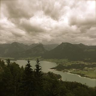 lac de st wolfgang vu d'en haut