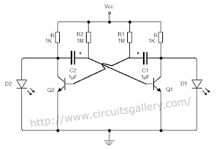 Astable+multivibrator+circuit+using+transistors+collectr+out Astable Multivibrator using transistors   Transistorised Circuit wave form and operation