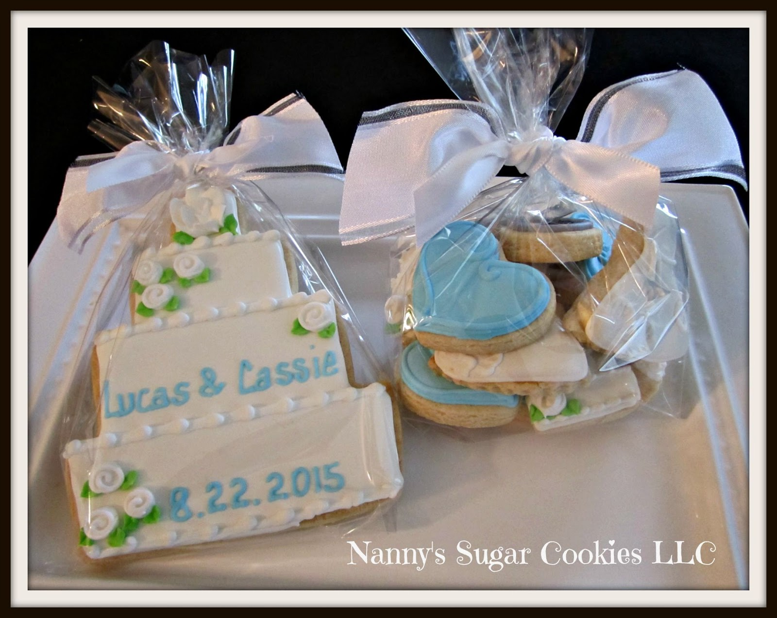 Nannys Sugar Cookies Llc Wedding Theme Cookie Favors