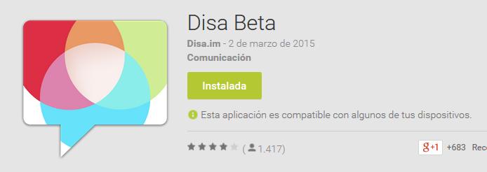 Ya se puede descargar la aplicación Disa Beta en Google Play.
