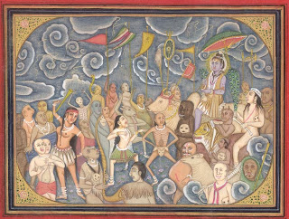 Shiva's marriage party comprising of gods, ghouls, ghosts and goblins
