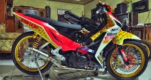 model modifikasi motor supra x 124 ceper