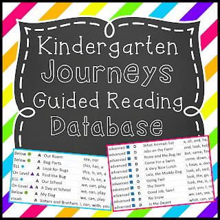 https://www.teacherspayteachers.com/Product/Kingergarten-Journeys-Guided-Reading-Database-1791319