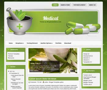 Medical Theme Blogger Template. free Medical blogger template