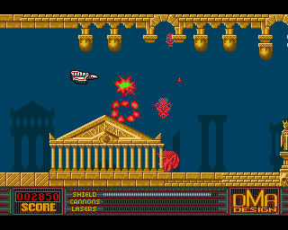 Another level on Menace for the Amiga
