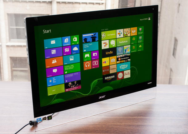 Aspire 7600U PC all-in-one, Acer high-end Windows 8 , Komputer terbaru dari Acer