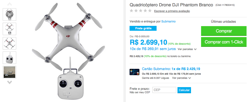 Aonde comprar um Phantom no Brasil