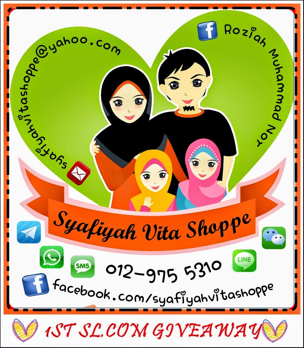 First Giveaway By Syafiyahluv.com