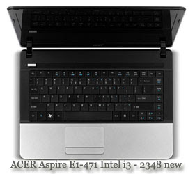 Acer Aspire E1 471 Intel i3 2348 new